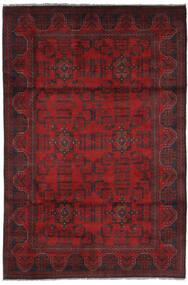Afghan Khal Mohammadi Matto 128X200 Itämainen Käsinsolmittu Tummanpunainen/Musta (Villa, Afganistan)