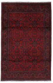Afghan Khal Mohammadi Matto 126X195 Itämainen Käsinsolmittu Tummanpunainen (Villa, Afganistan)