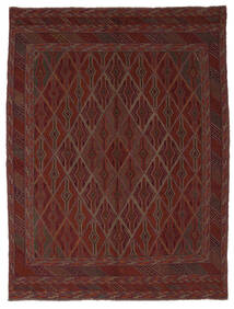 Kelim Golbarjasta Matto 212X280 Itämainen Käsinkudottu Musta (Villa, Afganistan)