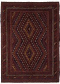 Kelim Golbarjasta Matto 206X275 Itämainen Käsinkudottu Musta (Villa, Afganistan)