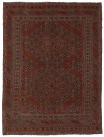 Kelim Golbarjasta Matto 193X265 Itämainen Käsinkudottu Musta (Villa, Afganistan)