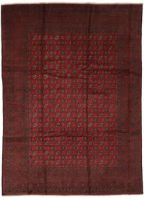 Afghan Matto 247X337 Itämainen Käsinsolmittu Musta/Tummanpunainen (Villa, Afganistan)