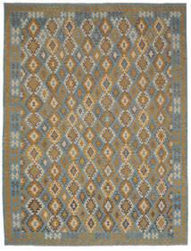 Kelim Afghan Old Style Matto 299X395 Itämainen Käsinkudottu Tummanruskea/Tummanharmaa Isot (Villa, Afganistan)