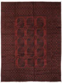 Afghan Matto 242X334 Itämainen Käsinsolmittu Musta (Villa, Afganistan)
