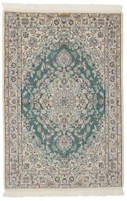 Nain 9La Matto 107X158 Itämainen Käsinsolmittu Tummanharmaa/Tummanvihreä (Villa/Silkki, Persia/Iran)