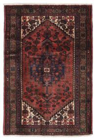 Hamadan Matto 104X151 Itämainen Käsinsolmittu Musta/Tummanruskea (Villa, Persia/Iran)