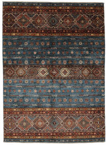 Shabargan Matto 151X209 Moderni Käsinsolmittu Musta/Tummanruskea (Villa, Afganistan)
