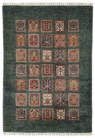 Shabargan Matto 119X176 Moderni Käsinsolmittu Musta/Tummanruskea (Villa, Afganistan)