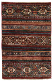 Shabargan Matto 84X125 Moderni Käsinsolmittu Musta/Tummanruskea (Villa, Afganistan)