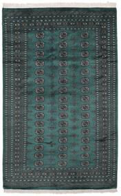 Pakistan Bokhara 2Ply Matto 164X255 Itämainen Käsinsolmittu Musta/Tumma Turkoosi (Villa, Pakistan)