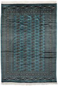 Pakistan Bokhara 2Ply Matto 193X269 Itämainen Käsinsolmittu Musta/Tumma Turkoosi (Villa, Pakistan)