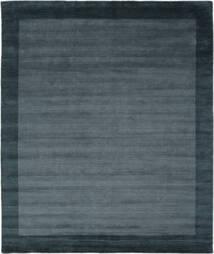 Handloom Frame - Petrol Sininen Matto 250X300 Moderni Musta/Tummansininen Isot (Villa, Intia)