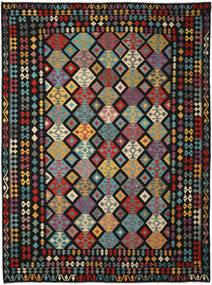 Kelim Afghan Old Style Matto 304X407 Itämainen Käsinkudottu Musta Isot (Villa, Afganistan)