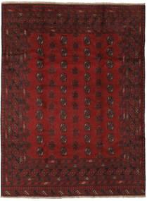 Afghan Matto 201X267 Itämainen Käsinsolmittu Musta/Tummanpunainen (Villa, Afganistan)