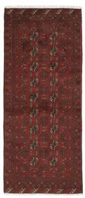 Afghan Matto 78X192 Itämainen Käsinsolmittu Käytävämatto Musta/Tummanruskea (Villa, Afganistan)