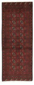 Afghan Matto 74X193 Itämainen Käsinsolmittu Käytävämatto Musta/Tummanruskea (Villa, Afganistan)