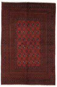 Afghan Matto 154X237 Itämainen Käsinsolmittu Musta (Villa, Afganistan)