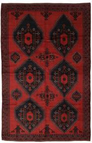 Beluch Matto 220X335 Itämainen Käsinsolmittu Musta/Tummanpunainen (Villa, Afganistan)