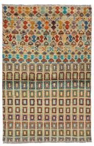 Moroccan Berber - Afghanistan Matto 92X142 Moderni Käsinsolmittu Tummanvihreä/Tumma Turkoosi (Villa, Afganistan)