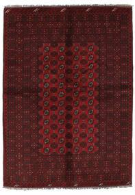 Afghan Matto 157X228 Itämainen Käsinsolmittu Musta (Villa, Afganistan)