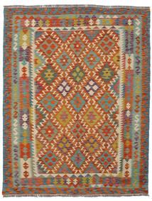 Kelim Afghan Old Style Matto 150X190 Itämainen Käsinkudottu Tummanpunainen/Tummanharmaa (Villa, Afganistan)