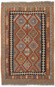 Kelim Afghan Old Style Matto 126X189 Itämainen Käsinkudottu Tummanruskea/Musta (Villa, Afganistan)