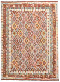 Kelim Afghan Old Style Matto 274X368 Itämainen Käsinkudottu Tummanruskea/Tummanharmaa Isot (Villa, Afganistan)