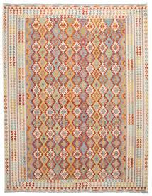 Kelim Afghan Old Style Matto 308X396 Itämainen Käsinkudottu Ruskea/Vaaleanruskea Isot (Villa, Afganistan)