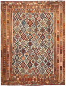 Kelim Afghan Old Style Matto 304X397 Itämainen Käsinkudottu Tummanruskea/Musta Isot (Villa, Afganistan)