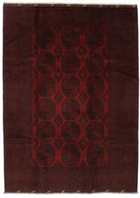 Afghan Matto 204X282 Itämainen Käsinsolmittu Musta (Villa, Afganistan)