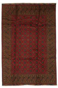 Afghan Matto 198X289 Itämainen Käsinsolmittu Musta (Villa, Afganistan)