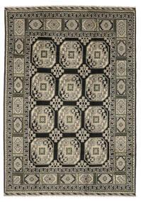 Afghan Matto 199X286 Itämainen Käsinsolmittu Musta/Tummanruskea (Villa, Afganistan)