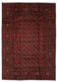 Afghan Matto 196X281 Itämainen Käsinsolmittu Musta (Villa, Afganistan)