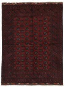 Afghan Matto 166X219 Itämainen Käsinsolmittu Musta (Villa, Afganistan)