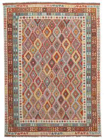 Kelim Afghan Old Style Matto 280X370 Itämainen Käsinkudottu Tummanruskea Isot (Villa, Afganistan)