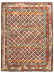 Kelim Afghan Old Style Matto 278X364 Itämainen Käsinkudottu Tummanruskea Isot (Villa, Afganistan)