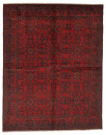 Afghan Khal Mohammadi Matto 177X225 Itämainen Käsinsolmittu Musta/Tummanpunainen (Villa, Afganistan)