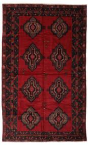 Beluch Matto 193X312 Itämainen Käsinsolmittu Musta/Tummanpunainen (Villa, Afganistan)