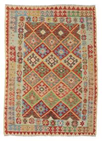 Kelim Afghan Old Style Matto 147X210 Itämainen Käsinkudottu (Villa, Afganistan)