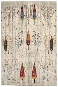 Gabbeh Loribaft Matto 197X298 Moderni Käsinsolmittu Oliivinvihreä/Vaaleanruskea (Villa, Intia)